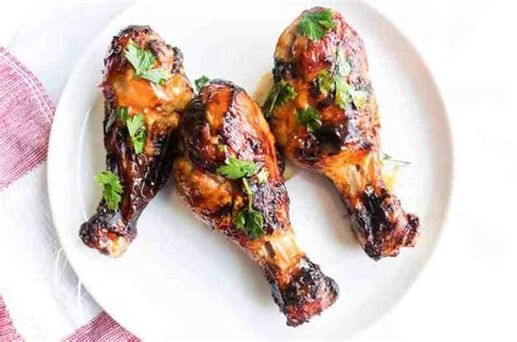 chicken drumsticks fryer air recipe barbecue sauce
