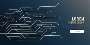 Circuit Lines Diagram Technology Banner Vector