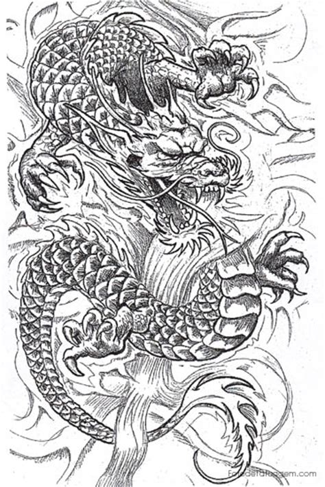 desenhos  tatuagem de dragao foto de tatuagem
