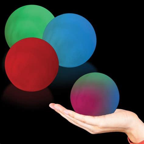 light up spheres imprinted sphere multicolor led glow light up shape usimprints