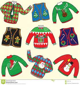 ugly christmas sweaters stock vector image of argyle 22281783