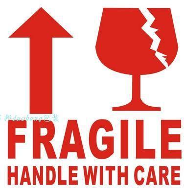 mm fragile tag label stickers fragile handle
