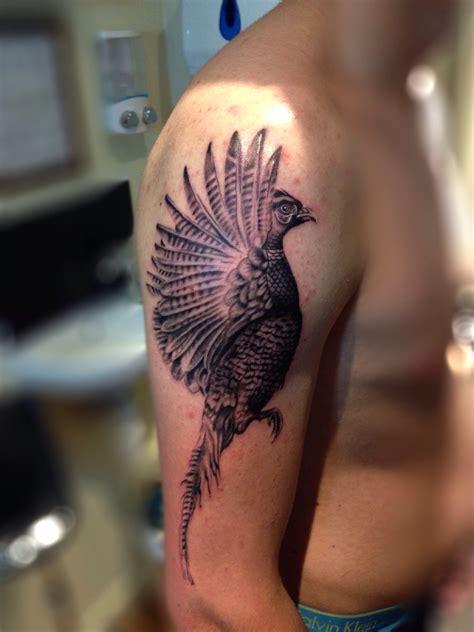 cool pheasant arm tattoojpg