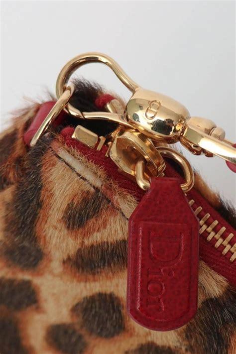vintage christian dior animal printed pony hair saddle bag  stdibs