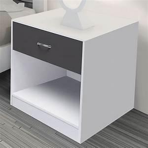 Table De Chevet Blanche Ikea : tables de chevet blanches pas cher id market ~ Nature-et-papiers.com Idées de Décoration
