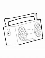 Coloring Stereo Radio Players Colorare Results sketch template