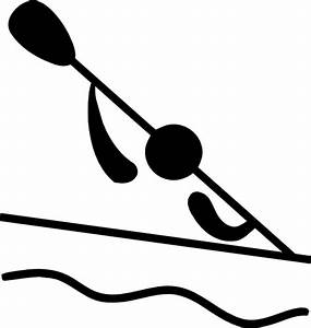 Olympic Sports Canoeing Slalom Pictogram Clip Art at Clker ...