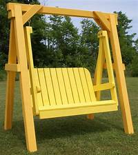 free standing swing Free Standing Porch Swing Plans - WoodWorking Projects & Plans