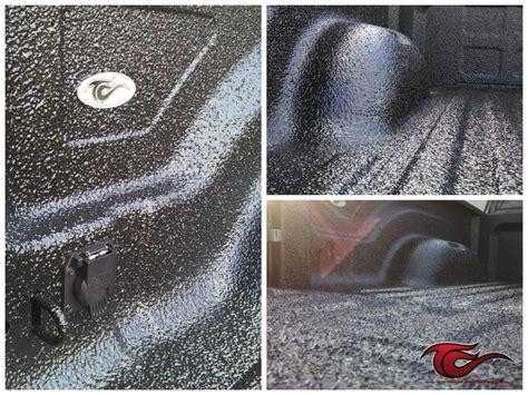 Scorpion Bed Liner by This Custom Black Rubber Crumb Scorpion Bed Liner Was