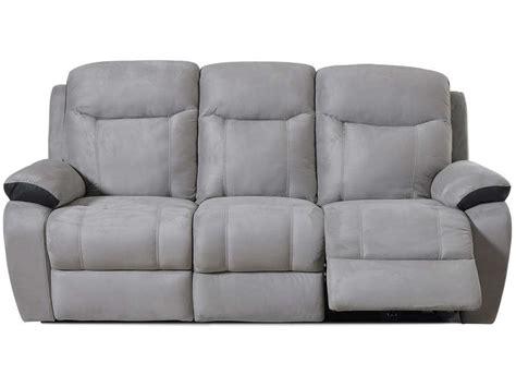 canape relax electrique conforama canape relax électrique 3 places bradley coloris blanc gris clair prix promo canapé conforama