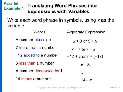 Translating Algebraic Expressions Worksheets Pdf Worksheets For All  Download And Share
