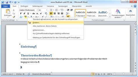 formatvorlagen anpassen  microsoft word