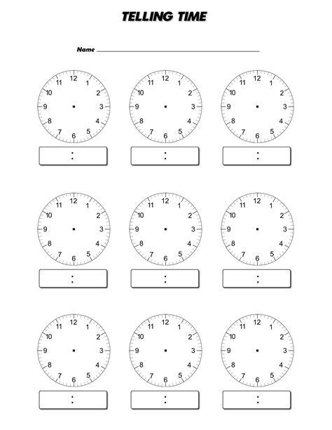 clock face worksheets  print activity shelter