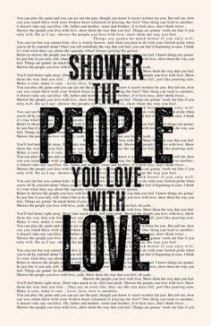 you and me together poster vintage style book page dave matthews band dmb lyrics