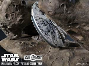Millennium Falcon Asteroid Coffee Table - The Green Head