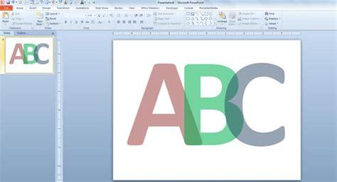 translucent letters  pow erpoint