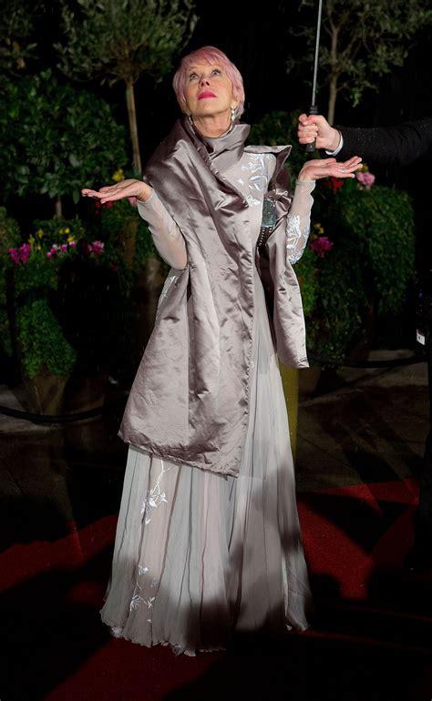 Helen Mirren With Wonderful Pink Hair Helen Mirren