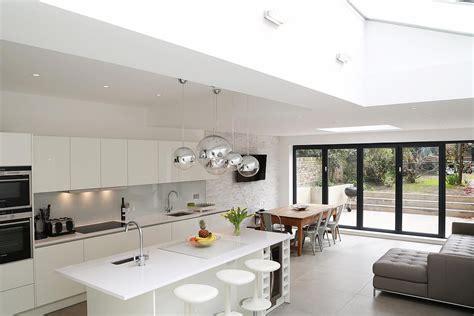white matt kitchens houses pinterest open plan
