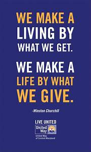 Live United  Inspirational Quotes  Inspiring Words  Giving Back  Philanthropy  Charity  Winston
