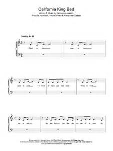 california king bed sheet music for piano solo chords by