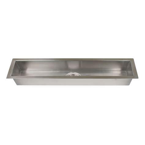 Executive Zero Radius Stainless Steel Trough Sink Kitchen