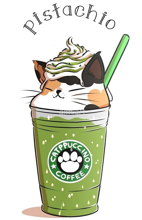 pistachio catpuccino  amcart cats cute drawings