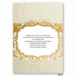 antique treasure invitation with free respond postcard With all in one wedding invitations reviews