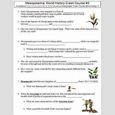 Crash Course World History #3 (mesopotamia) Worksheet Tpt