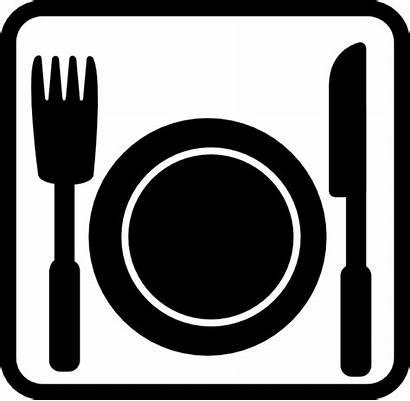 Dinner Restaurant Clip Symbols Clipart Svg Vector