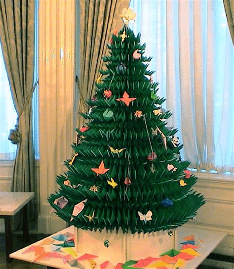 how to make a big christmas tree size origami tree this tree took three mont flickr