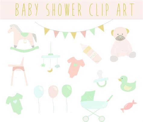 Baby Shower Clipart Baby Shower Vintage Clip Clipart Baby Shower Clipart