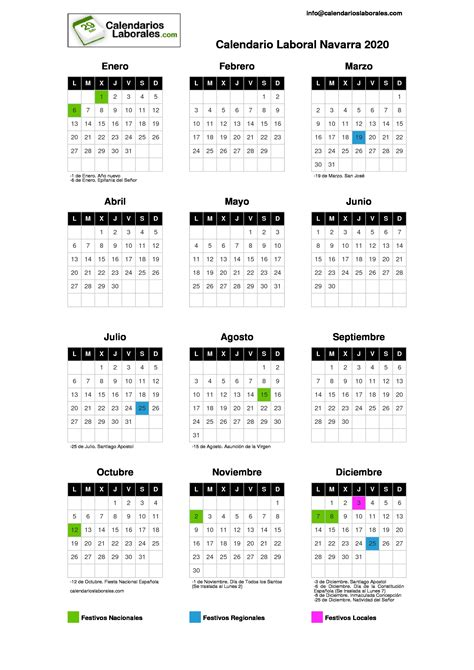 calendario laboral navarra
