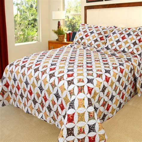Quilts And Coverlets by Lavish Home Printed 2 Quilt Set Ebay