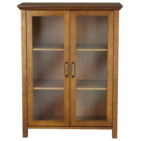 2 Door Cabinets by Home Fashions Avery 2 Door Floor Cabinet Oak Linen