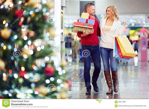 buying christmas gifts stock photo image of christmas