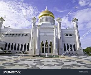 Mosque In Bandar Seri Begawan  The Capital Of Brunei  Stock Photo 90944822   Shutterstock
