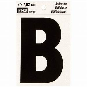 hy ko 3 in self adhesive reflective vinyl letter b rv 50 With reflective adhesive letters