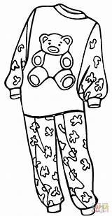 Pajamas Coloring Pajama Clipart Drawing Printable Sheets Clothes Supercoloring Outline Colouring Shoes Preschool Template Pj Pyjamas Crafts Pyjama Doll Se sketch template