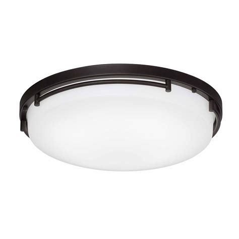 hton bay 18 inch led flushmount low profile oil rubbed
