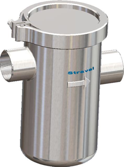 Stainless Steel Vband Clamp Simplex Basket Strainer  Straval