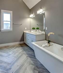 master, bath, with, woodtalk, , grey, pepper, tile, in, herringbone
