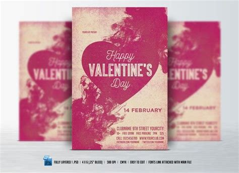 valentines day flyer  images valentine template