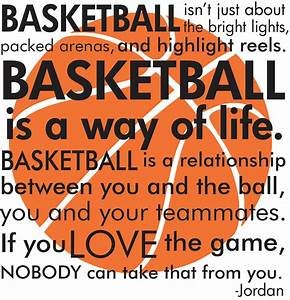 Basketball Michael Jordan quote with basketball by ...