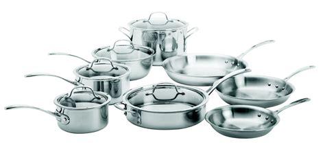 calphalon tri ply stainless steel  piece cookware set reviews wayfair