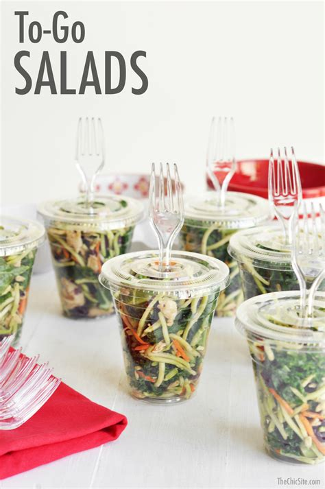 cuisine to go salads to go the chic site