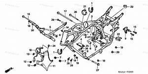 Honda Motorcycle 2007 Oem Parts Diagram For Frame