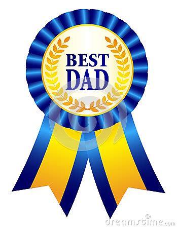 dad ribbon rosette stock vector image
