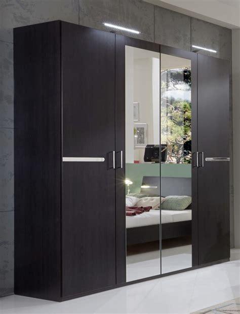 meuble armoire chambre armoire 4 portes chambre à coucher wengue