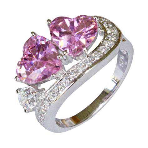 Double Pink Hearts Promise Ring  Pink Cubic Zirconia. Emerald Rings. Vintage Bridal Set Wedding Engagement Rings. Everlasting Engagement Rings. Colorful Rings. Mens Outdoor Wedding Rings. Unpolished Engagement Rings. Hipster Wedding Engagement Rings. Precious Engagement Rings