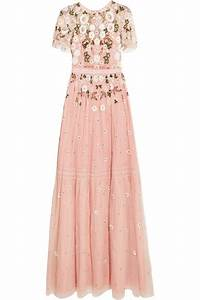 needle thread lace trimmed embellished tulle gown modesens With needle and thread robe